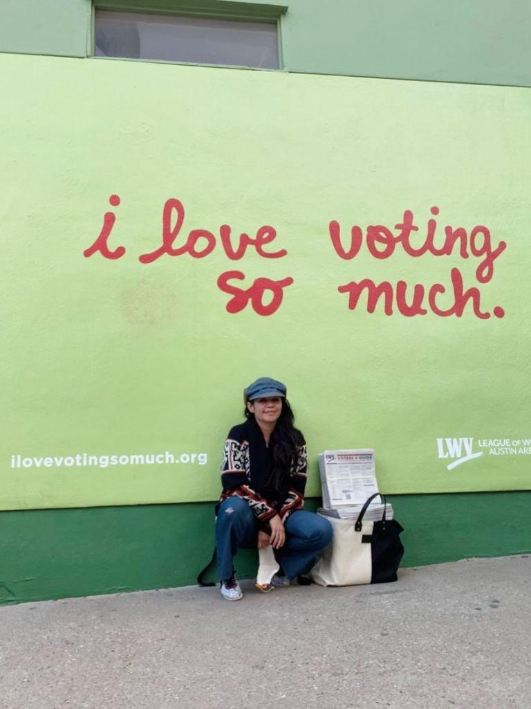 Shout out to the League of Women Voters for making an iconic mural in Austin an inspiration!